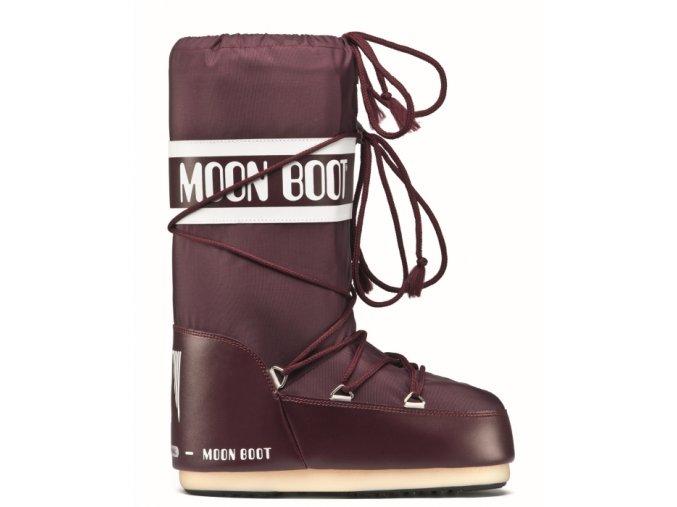 Zimní bota Moon boot Icon nylon burgundy 14004400074