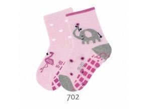 Ponožky Sterntaler protiskluzové 2 páry Slon+plameňák