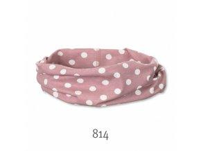 Šátek allrounder růžový s puntíky