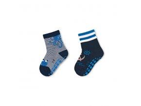 Ponožky Sterntaler protiskluzové 2 páry Námořník 8002122