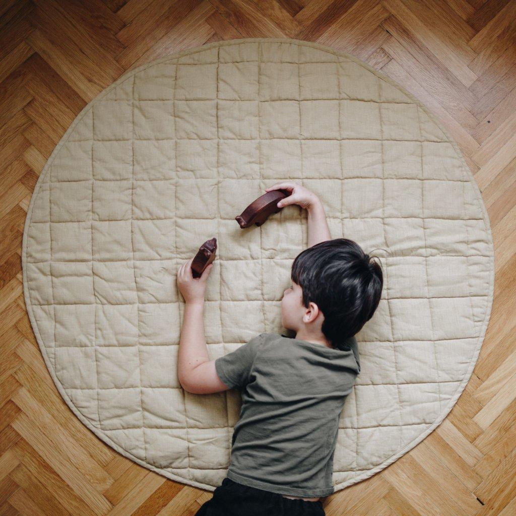 lněná hrací deka pro miminka