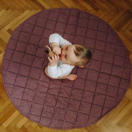 lněná hrací deka