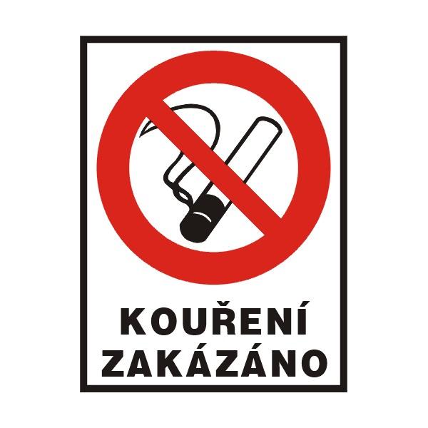 Cedule - kouření zákázáno