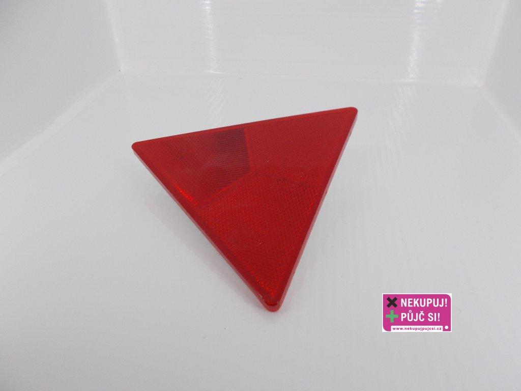 Odrazka trojúhelníková červená vč. šroubů