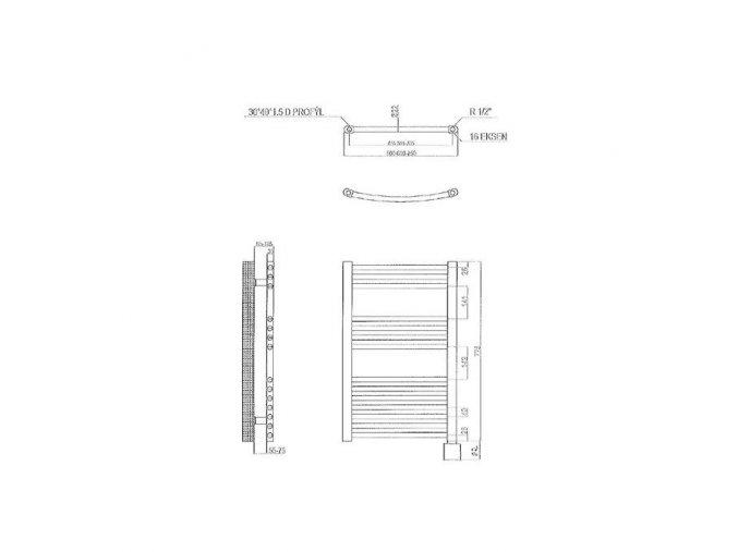 Elektrický  žebřík 77,5x40cm  reg.KTX3