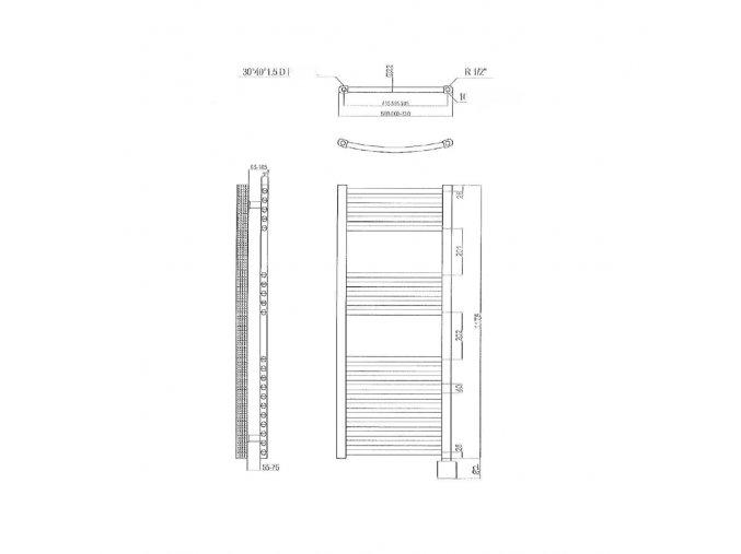 Elektr. žebřík 117,5x40cm reg. kTX3