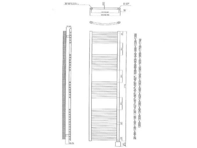 Elektrický žebřík 177,5x40cm reg. KTX3