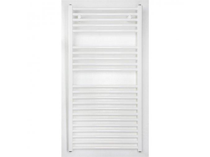 Koupelnový radiátor 1175x500mm bílý rovný