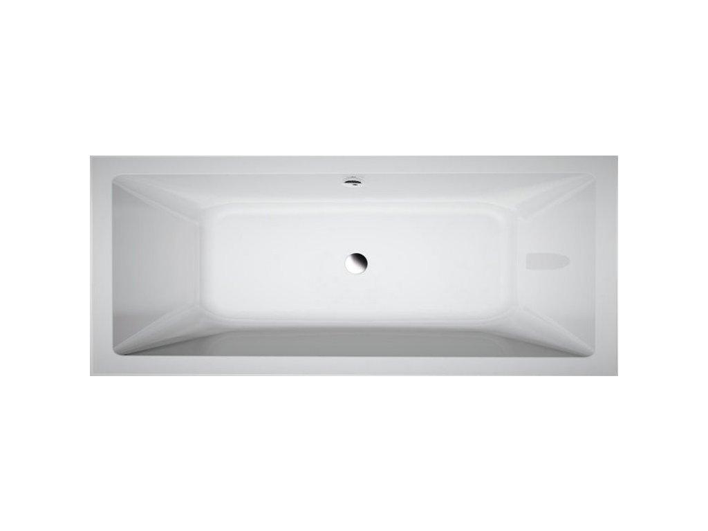 Aqualine Nisa A1880 obdélníková vana 180 x 80 cm akrylátová
