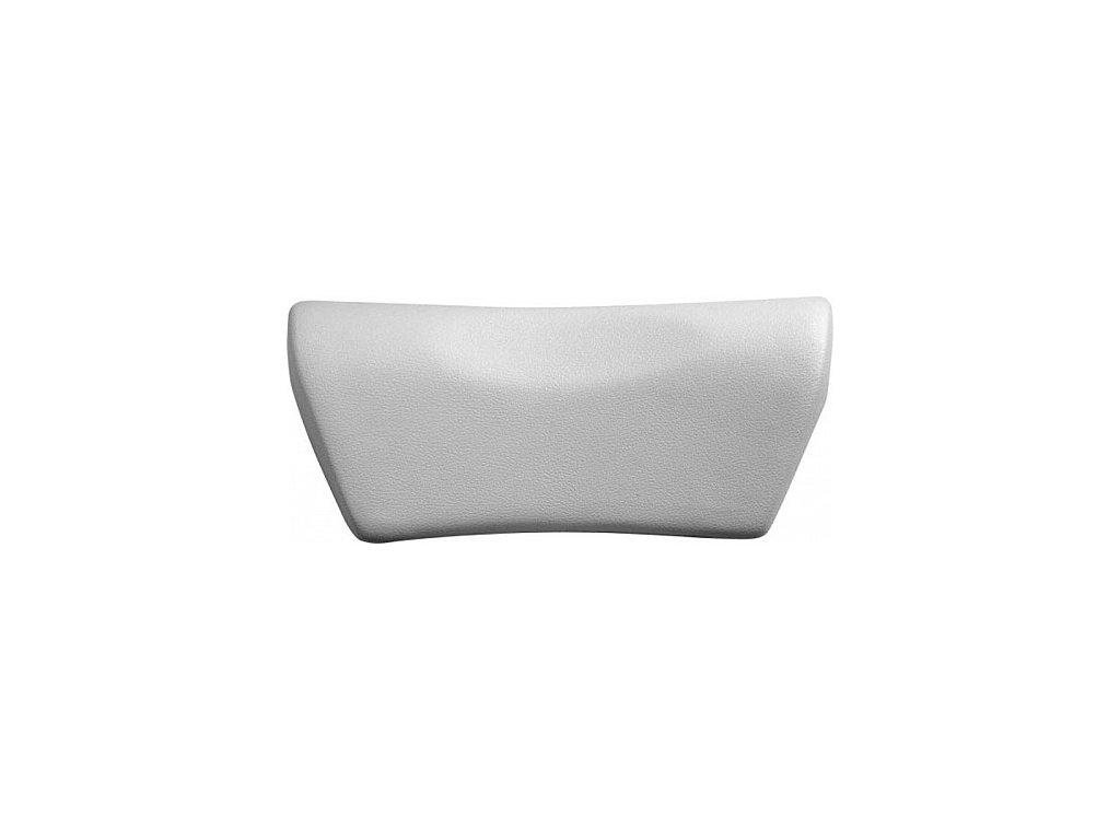 Polysan SPACE podhlavník do vany 27 x 13 cm 250092 stříbrný