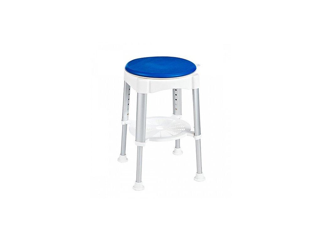 Sapho O 35,5 cm stolička otočná A0050401 bílá / modrá