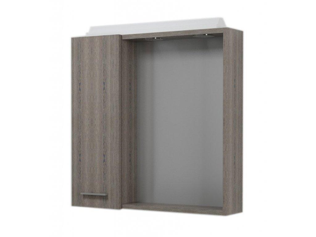 Aqualine Zoja 45023 koupelnová galerka 60 X 60 cm levá mali wenge