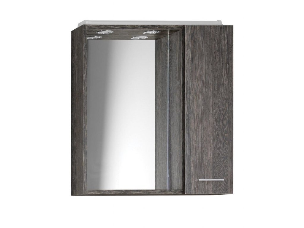Aqualine Zoja 45024 koupelnová galerka 60 X 60 cm pravá mali wenge