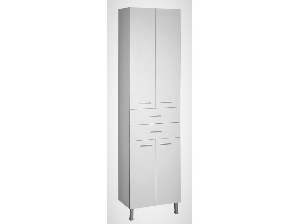 Aqualine Zoja / Keramia Fresh 51291 vysoká skříňka 184 cm bílá