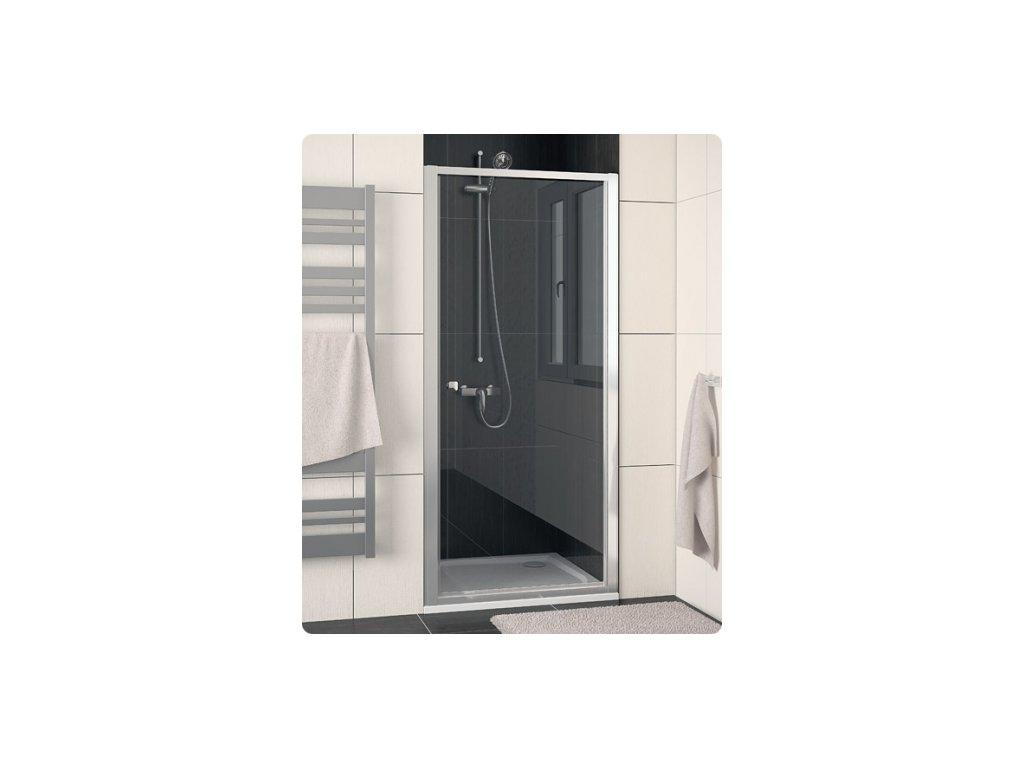 SanSwiss Ronal Eco-Line ECOP08000107 sprchové dveře sklo Transparent 80 x 190 cm