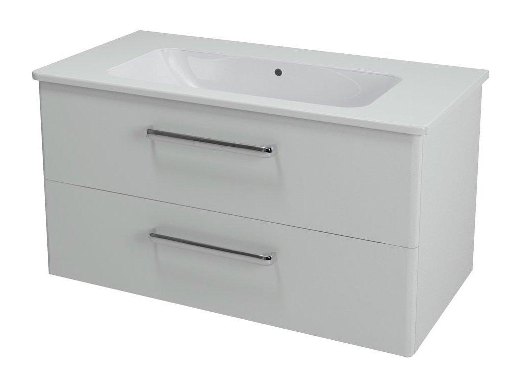 Sapho Pura PR101 umyvadlová skříňka 99 x 50 cm bílá