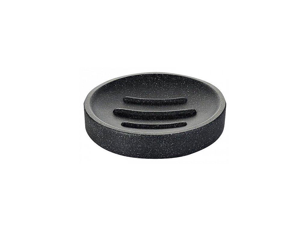 Sapho Stone 22010310 mýdlenka na postavení černá
