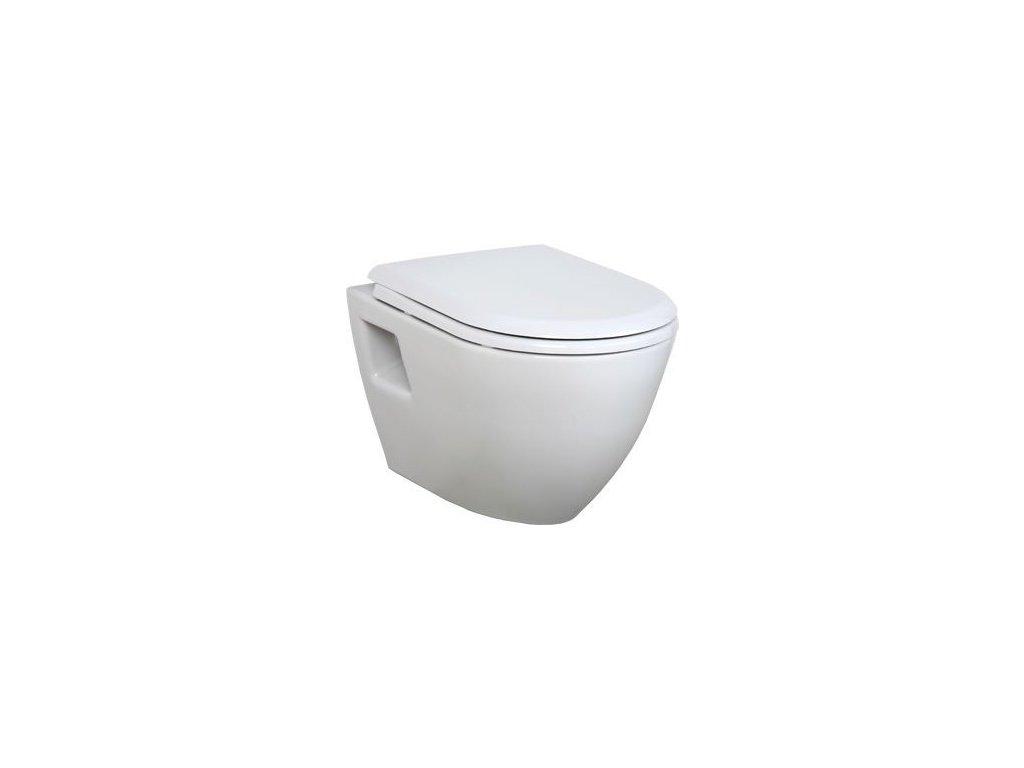 Creavit TERRA TP325 závěsné wc + bidet 2v1 bílé