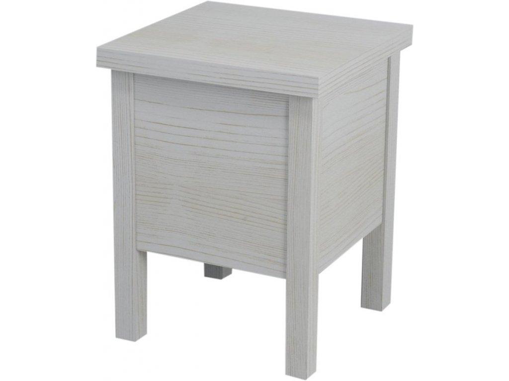 Sapho Brand BA122 stolička s úložným prostorem 35 x 46 cm starobílá