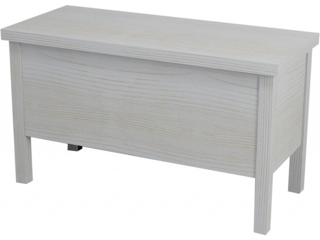 Sapho Brand BA092 lavice s úložným prostorem 80 x 46 cm starobílá