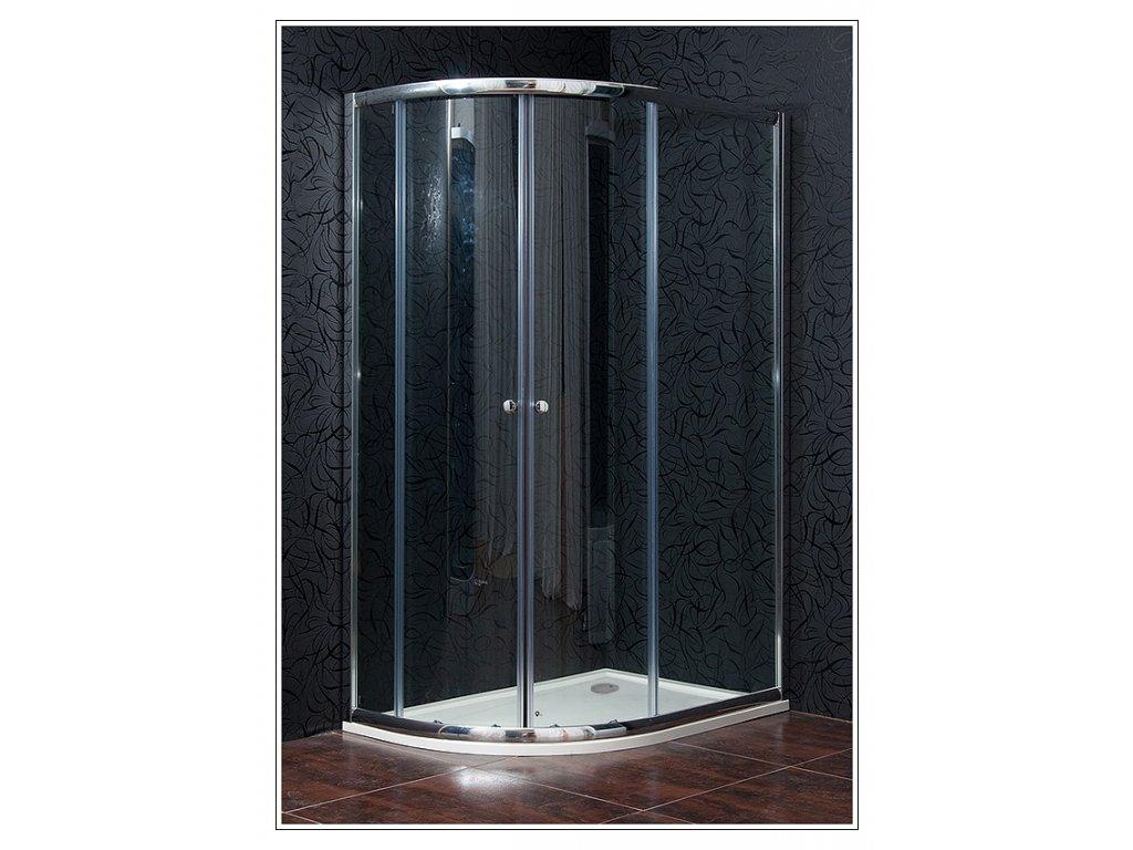 Arttec Klasik PAN01082 sprchový kout čtvrtkruhový s vaničkou pravý 90 x 120 cm