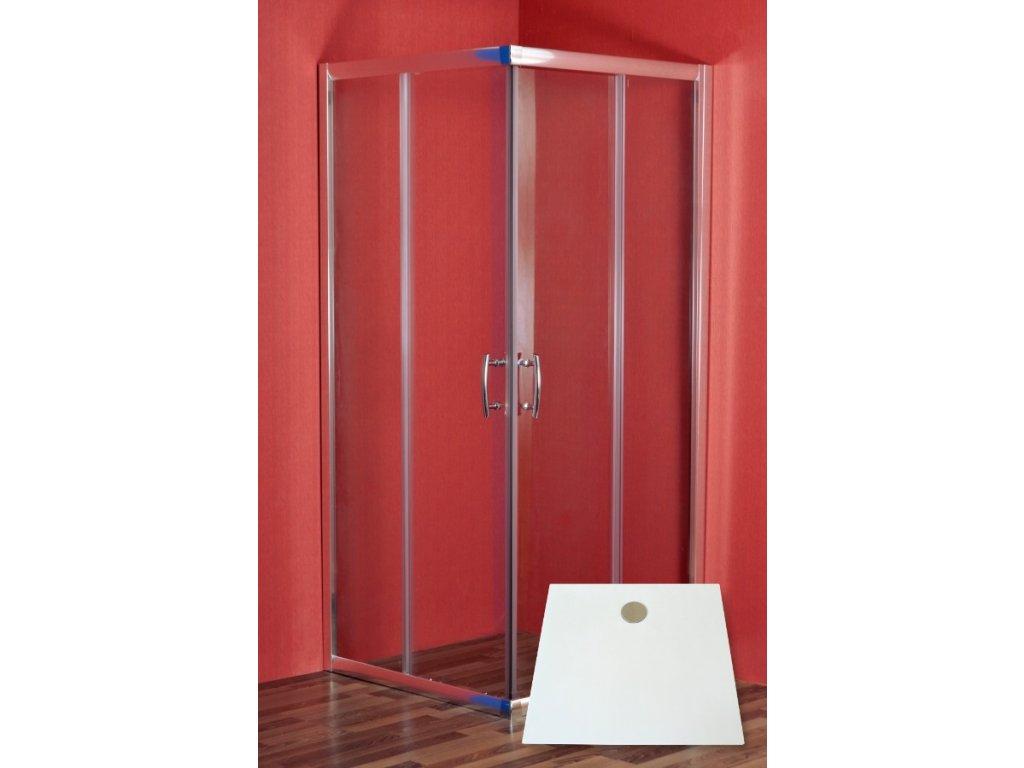Arttec Smaragd PAN01175 sprchový kout obdélníkový s vaničkou 90 x 80 cm