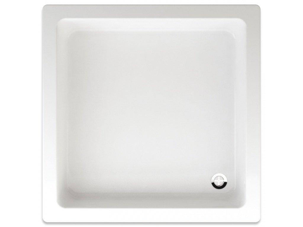 Teiko sprchová vanička LIBRA čtvercová 90 x 90 x 15 cm akrylátová 900 x 900 x 150 mm