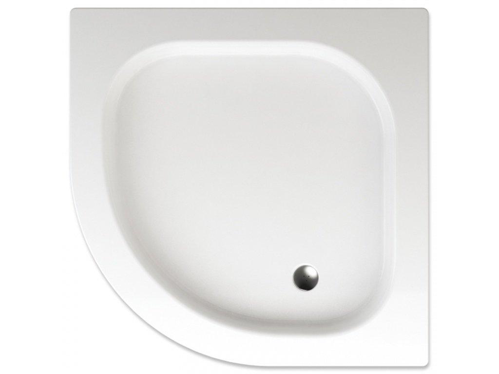 Teiko sprchová vanička FLORES čtvrtkruhová 90 x 90 x 8 cm akrylátová 900 x 900 x 80 mm