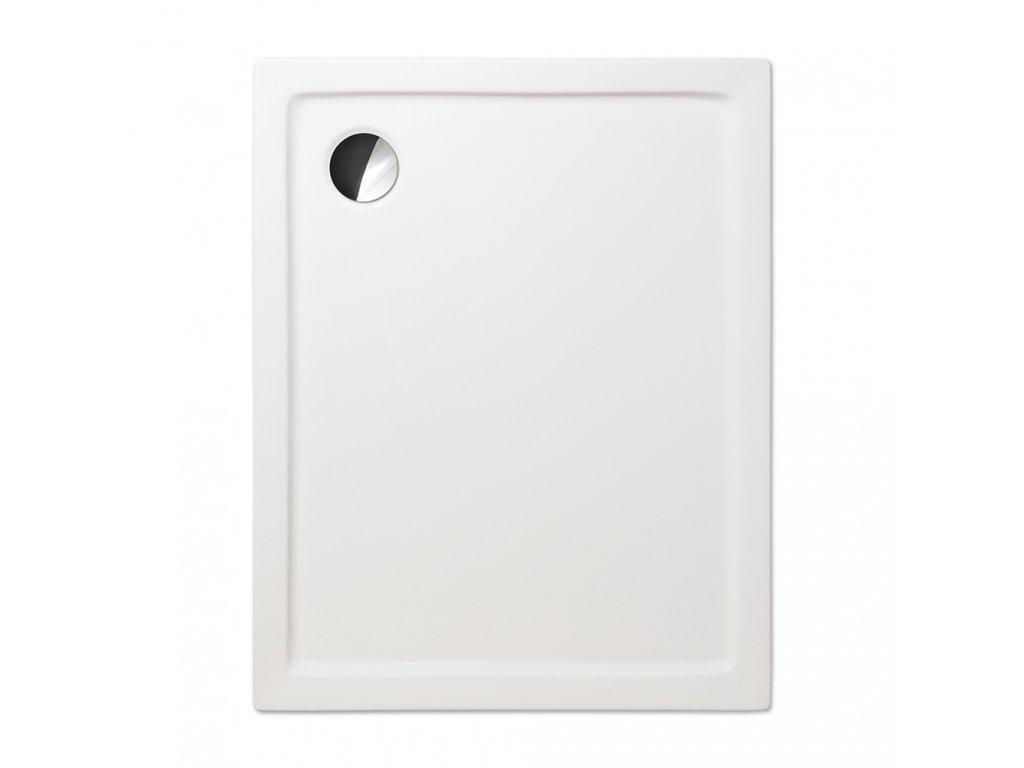 Roth FLAT KVADRO obdelníková sprchová vanička 100 x 90 x 5 cm 8000122 akrylátová bílá