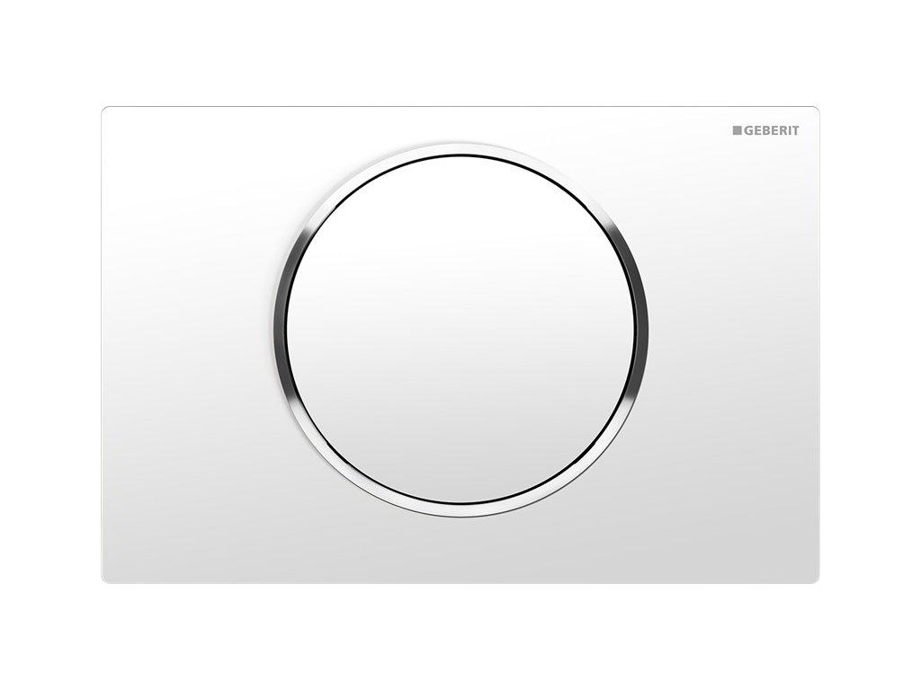 Geberit Sigma 10 115.758.KJ.5 ovládací tlačítko bílá / pochromovaná lesklá / bílá
