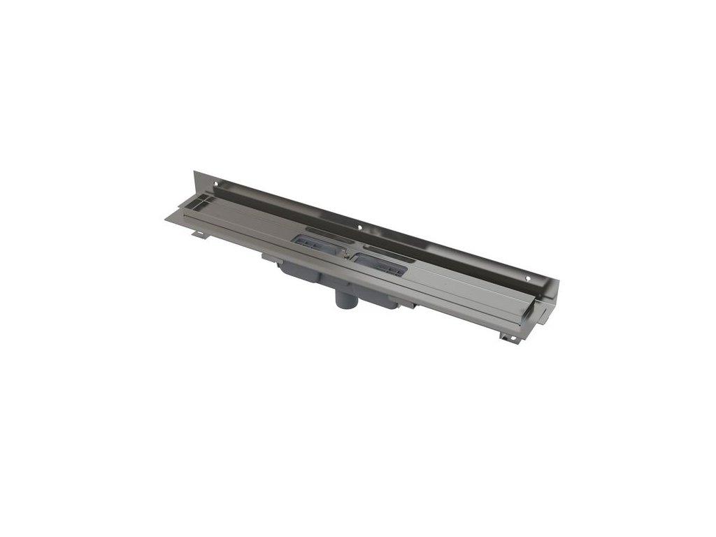 APZ1104 - 1050 Flexible Low podlahový žlab s nastavitelným límcem - svislý odtok