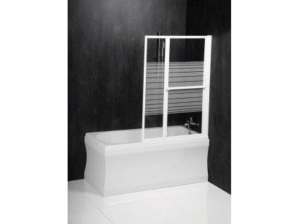 Polysan VENUS 2 105 x 140 cm pneumatická vanová zástěna 36127 bílá