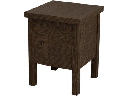Sapho Brand BA121 stolička s úložným prostorem 35 x 46 cm mořený smrk