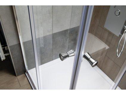 Aqualine Agga HLF909 sprchový kout čtvercový 90 x 90 cm