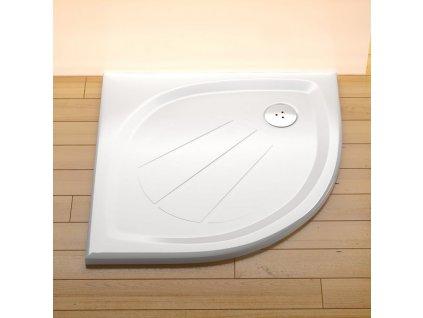 Ravak Elipso Pro 90 x 90 cm Sprchová vanička čtvrtkruhová z litého mramoru