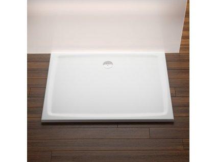 Ravak GIGANT PRO FLAT 100 x 80 cm XA03A411010 sprchová vanička litý mramor
