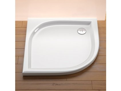 Ravak Elipso LA 80 x 80 cm Sprchová vanička čtvrtkruhová akrylátová