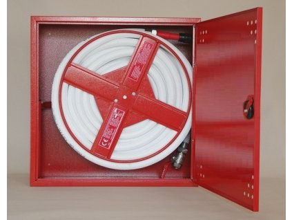 Hydrant DN 25/20 požární s tvarově stálou hadicí na zeď (hydrantová skříň)