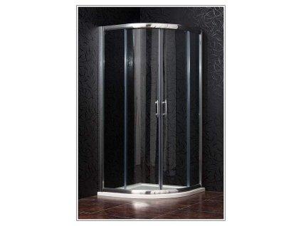 Arttec Briliant PAN00916 sprchový kout čtvrtkruhový 80 x 80 cm