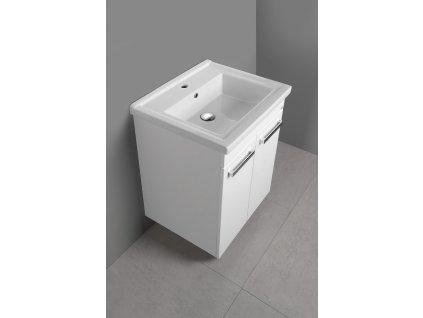 Aqualine Poly umyvadlová skříňka 56 cm bílá PL062