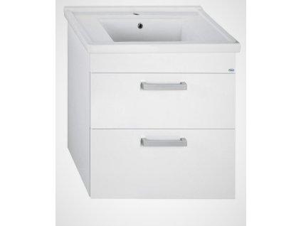Aqualine Poly umyvadlová skříňka 66 cm bílá PL080