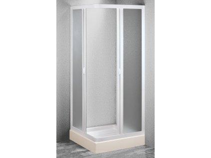 Olsen Spa Angolo OLBVEL10EX sprchový kout 100 - 95 × 100 - 95 x 185 cm plast čtvercový bílý