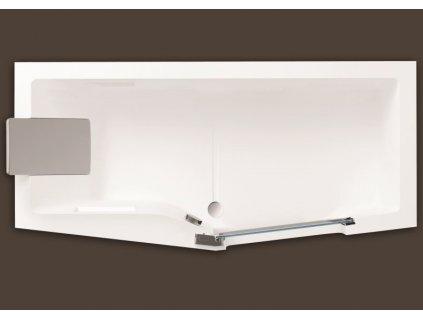 Santech IRIS 160 x 80 cm SAIRI160P vana s dvířky akrylátová pravá