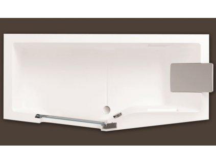 Santech IRIS 170 x 80 cm SAIRI170P vana s dvířky akrylátová pravá