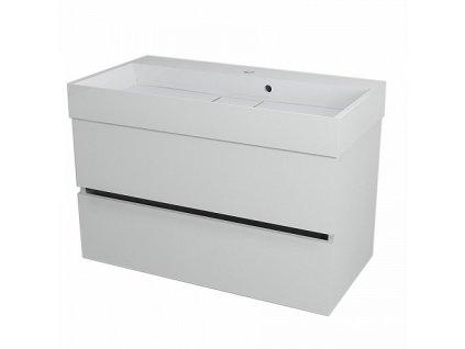 Sapho Largo LA901 umyvadlová skříňka 89 x 50 cm bílá