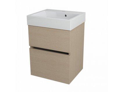 Sapho Largo LA504 umyvadlová skříňka 49 x 60 cm dub benátský