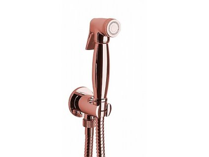 Sapho 9107 bidetová sprcha retro s hadicí a držákem sprchy s vyústěním růžové zlato