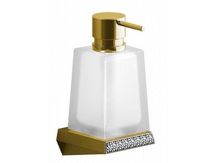 Sapho Soul Crystal 165032 dávkovač mýdla zlato