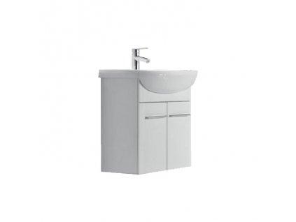 A-Interiéry Terra 66 skříňka s keramickým umyvadlem 66 x 66,7 x 33,1 cm závěsná