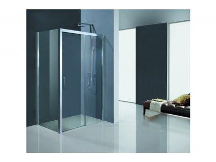 Hopa Estrela kombi sprchový kout 80 x 120 x 195 cm obdélníkový sklo čiré levý